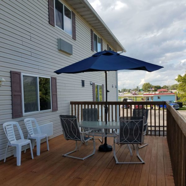 Outdoor Patio Seating available on the deck